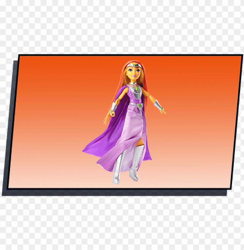 free PNG bambola di starfire™ intergalactic gala™ della linea - dc comics super hero girls - intergalactic gala - starfire PNG image with transparent background PNG images transparent