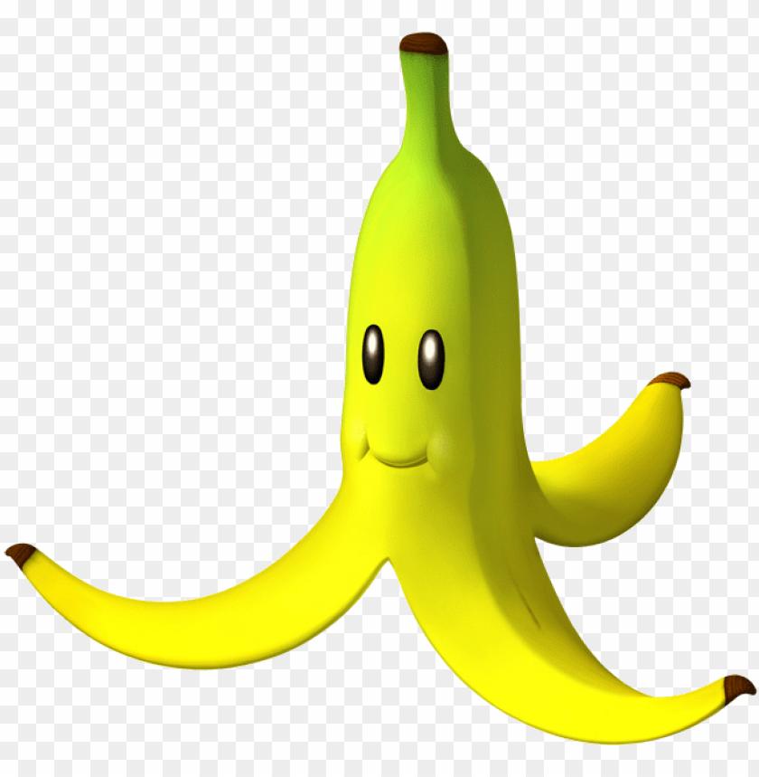 free PNG banana - banana peel mario kart PNG image with transparent background PNG images transparent