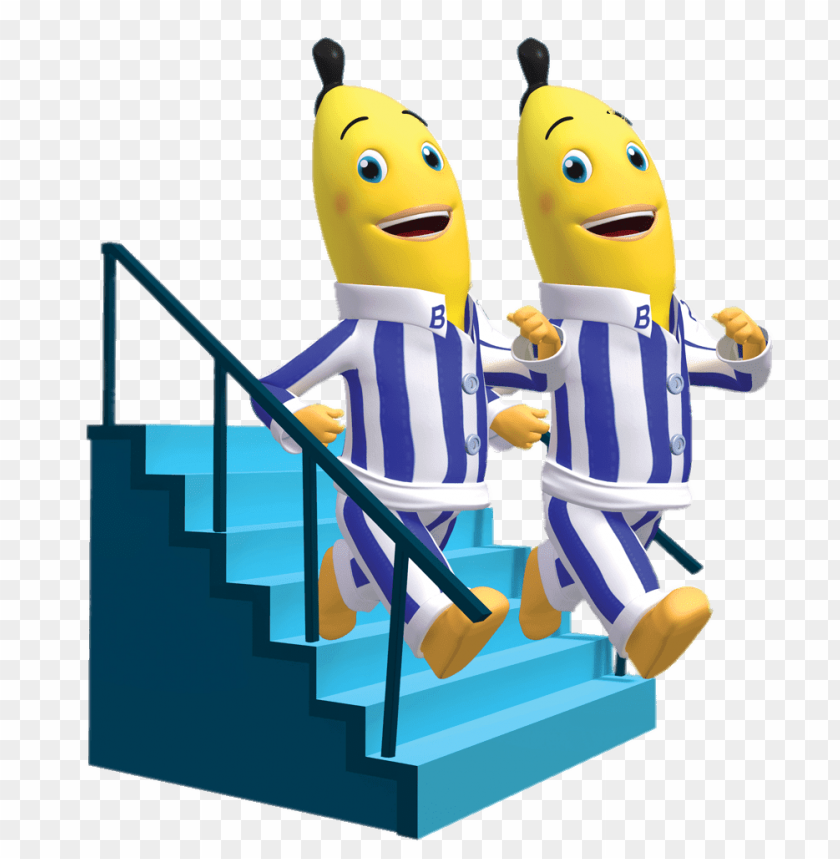 download bananas in pyjamas walking down the stairs clipart png photo toppng toppng
