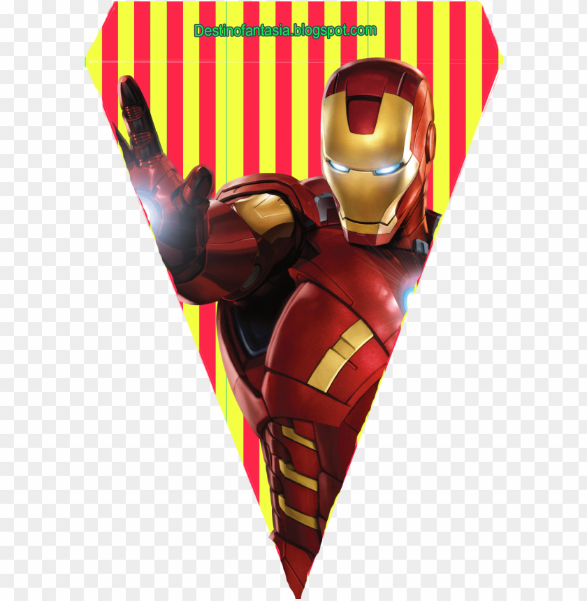 free PNG bandeirinha festa os vingadores - iron man - the avengers PNG image with transparent background PNG images transparent