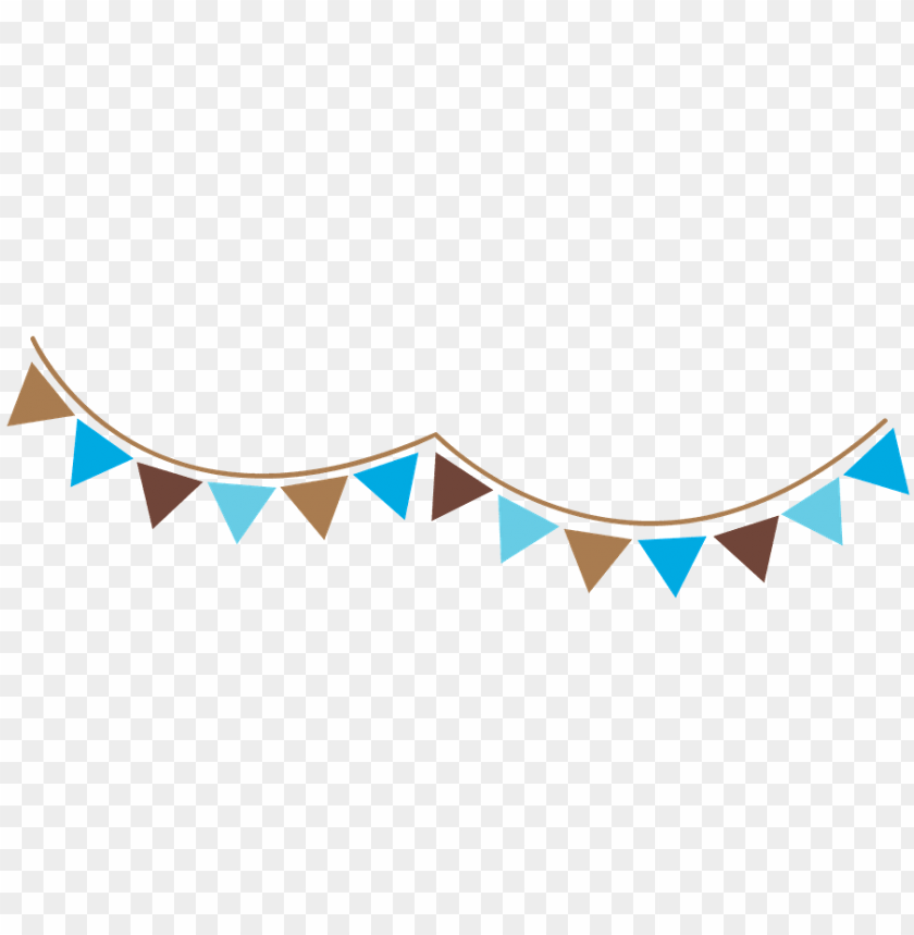 free PNG banderin azul png - banderines azul y cafe PNG image with transparent background PNG images transparent