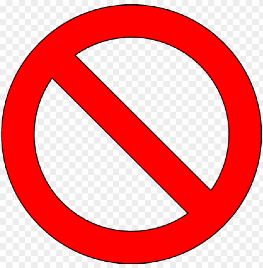 free PNG banned - signo de prohibido PNG image with transparent background PNG images transparent