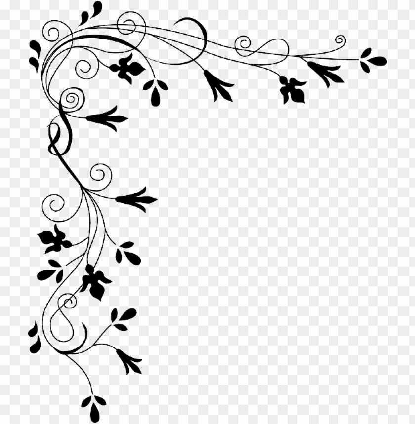 free PNG banner black and white library free image on pixabay - black and white flower border vector PNG image with transparent background PNG images transparent