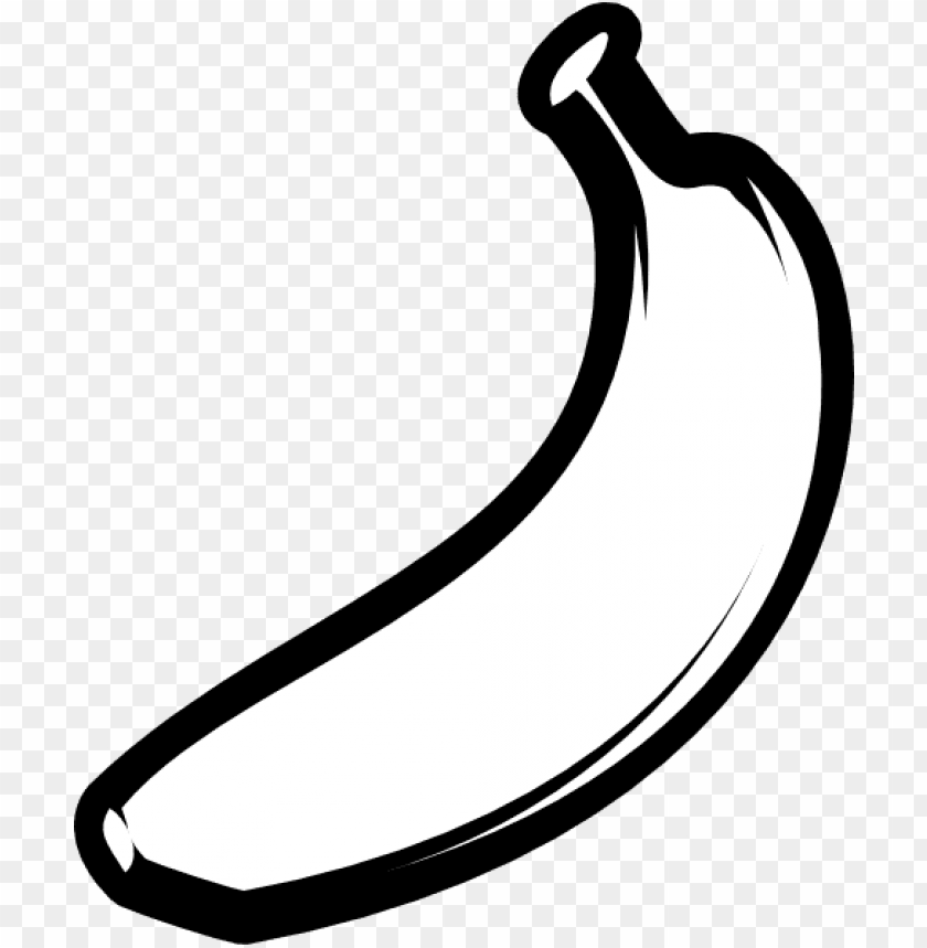 free PNG banner free bananas vector black and white - clip art black and white banana PNG image with transparent background PNG images transparent