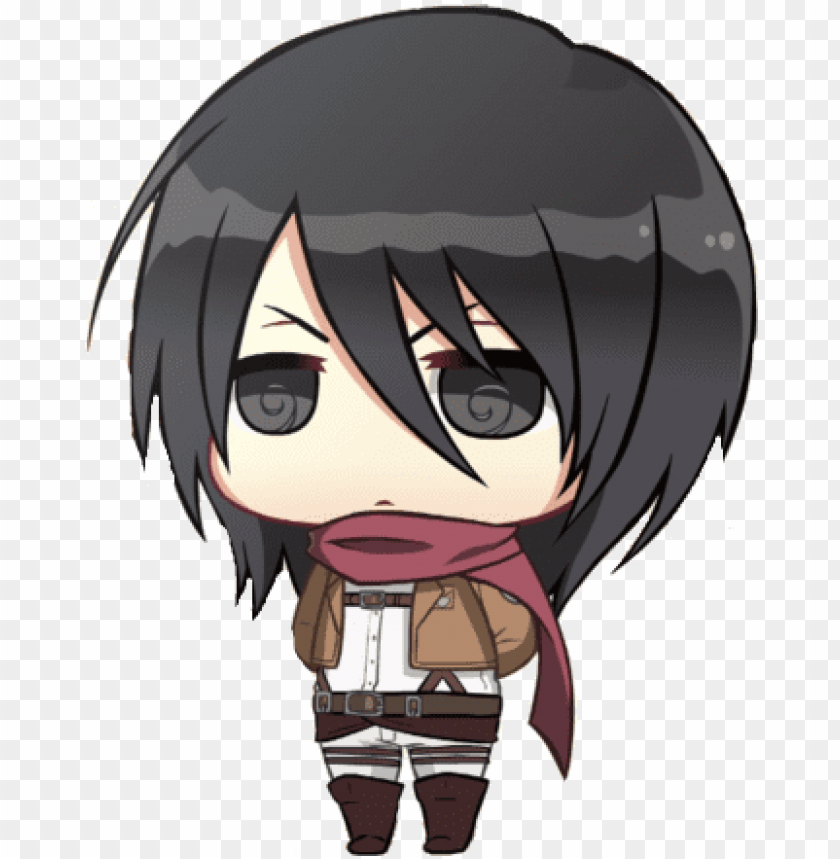 Banner Royalty Free Download Attack On Titan Chibi Chibi Mikasa Png Image With Transparent Background Toppng