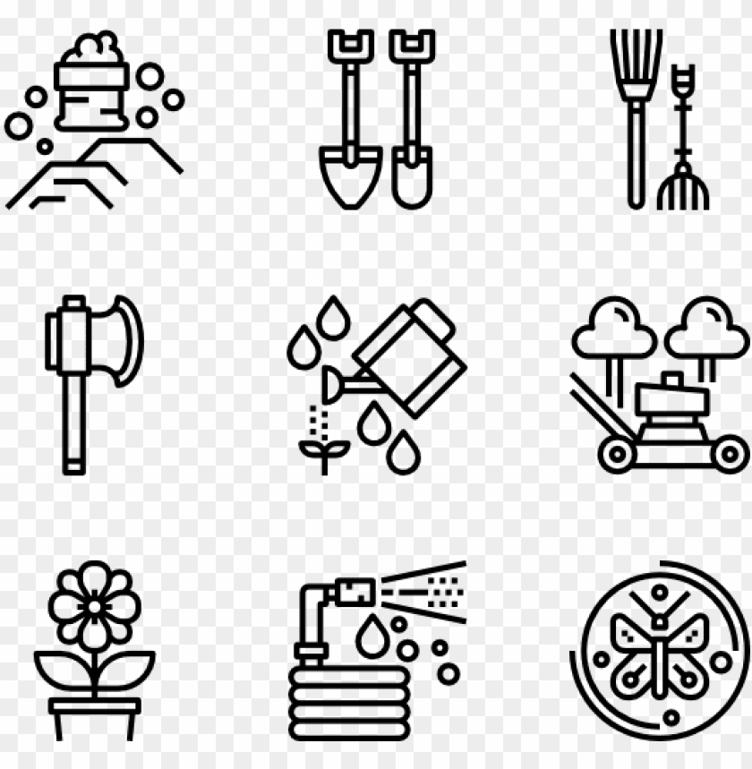 Banner Stock Farm Icons Free Garden Tools Pictograms Design Icon Png Free Png Images Toppng