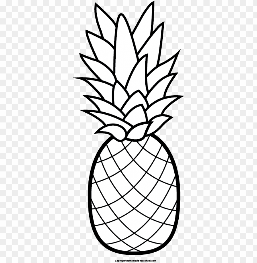 free PNG banner transparent download pineapple free clip art - pineapple clipart black and white PNG image with transparent background PNG images transparent