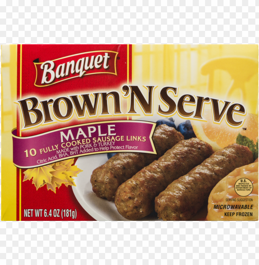 free PNG banquet brown 'n serve maple precooked sausage links, PNG image with transparent background PNG images transparent