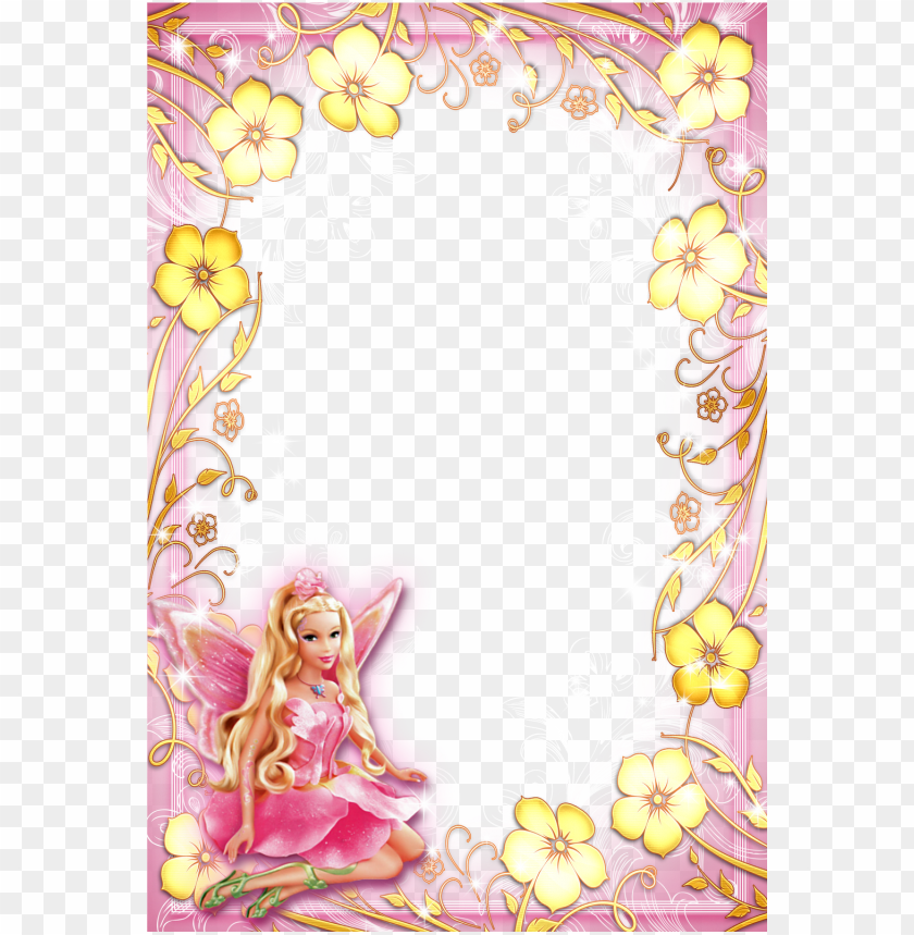 free PNG barbie dibujos christmas frames, page borders, borders - barbie frames and borders PNG image with transparent background PNG images transparent