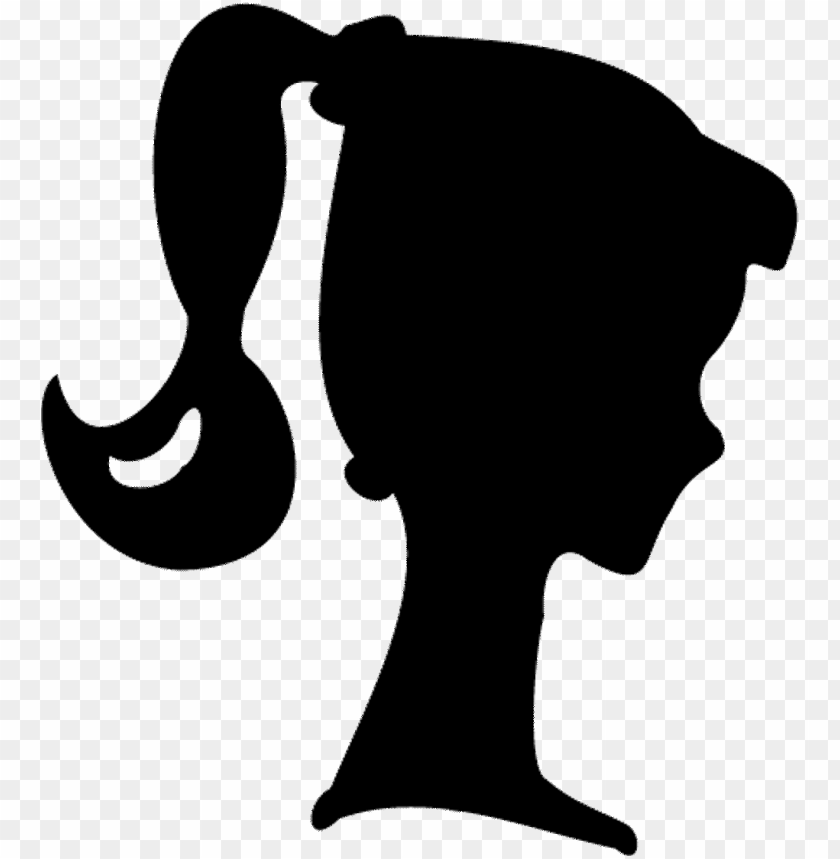 free PNG barbie silhouette free printable image - barbie silhouette printable PNG image with transparent background PNG images transparent