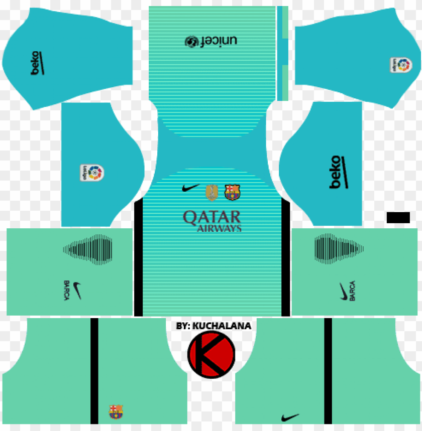 free PNG barcelona kits 2016/2017 - dream league soccer perak kit 2017 PNG image with transparent background PNG images transparent