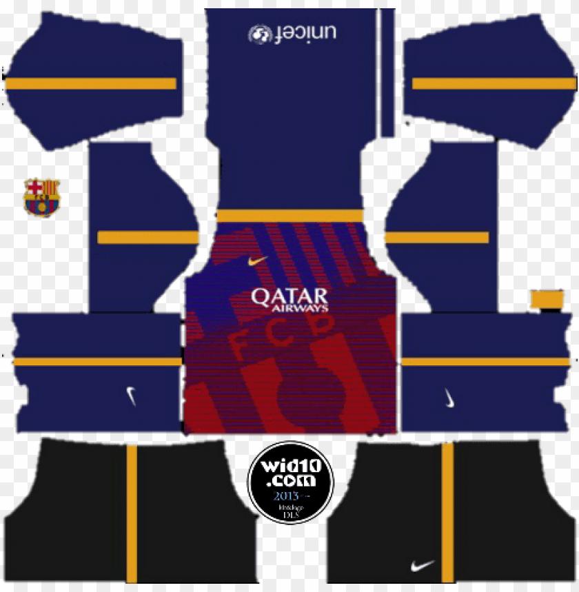 free PNG barcelona kits logo url 2017 2018 updated dream league - kit borussia dortmund dream league soccer 2018 PNG image with transparent background PNG images transparent