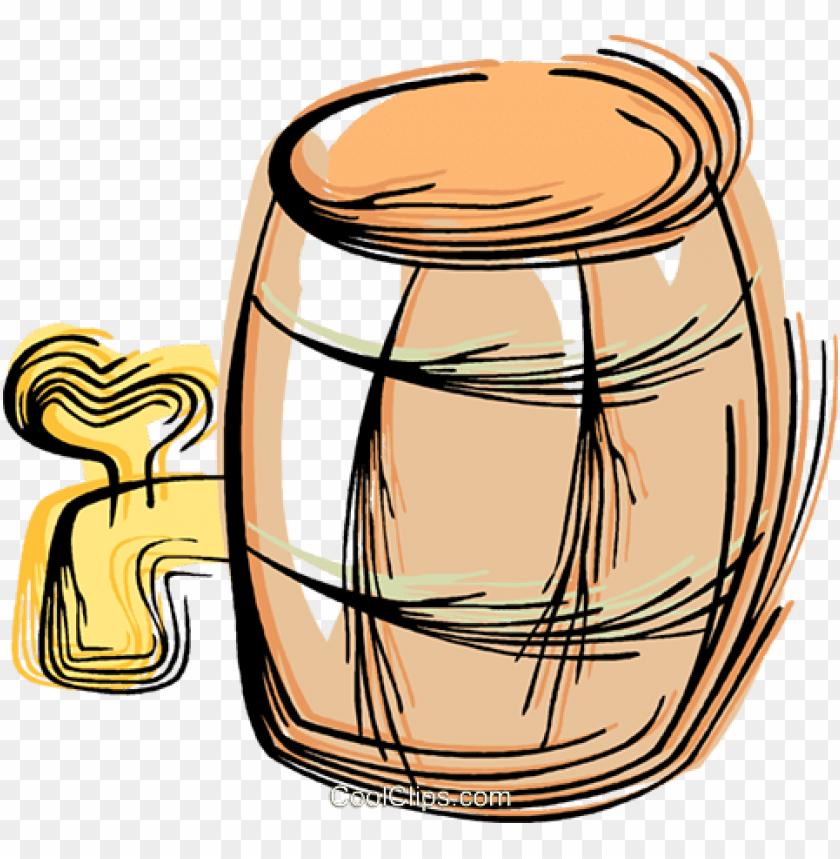free PNG barrel of beer royalty free vector clip art illustration - barril de cerveja vetor PNG image with transparent background PNG images transparent