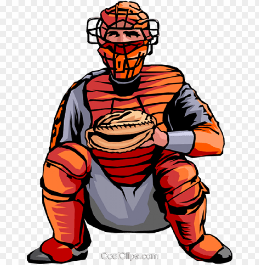 free PNG baseball catcher royalty free vector clip art illustration - baseball catcher clip art PNG image with transparent background PNG images transparent