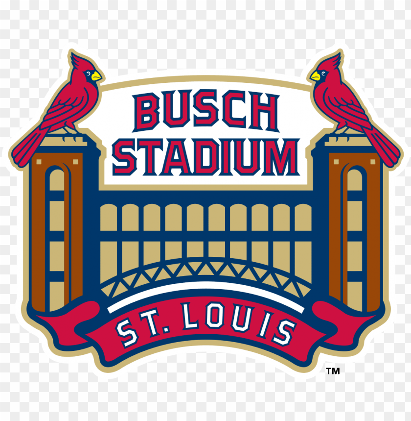 free PNG baseball park, baseball league, st louis cardinals - busch stadium logo PNG image with transparent background PNG images transparent
