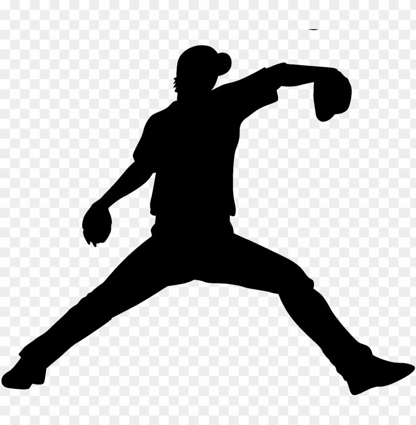 野球イラスト「シルエット ピッチング」 無料のフリー素材 baseball player silhouette - baseball pitcher  silhouette PNG image with transparent background | TOPpng