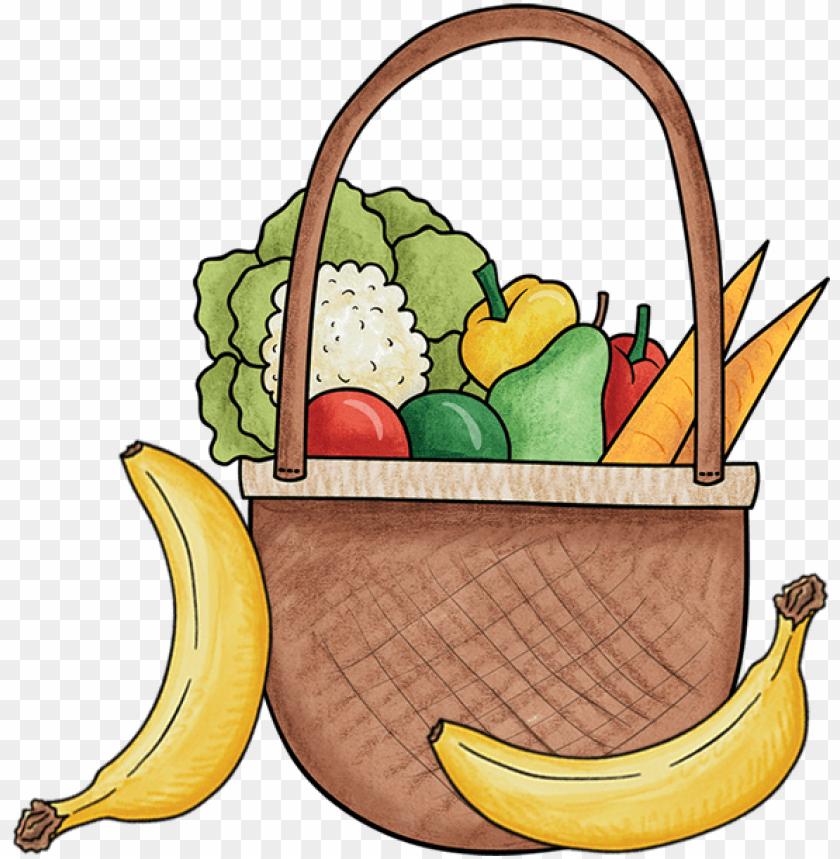 free PNG basket of fruit and vegetables - vegetable PNG image with transparent background PNG images transparent