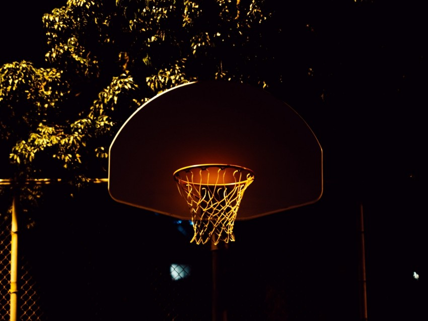 free PNG basketball, basketball hoop, basketball net, shadows, night background PNG images transparent