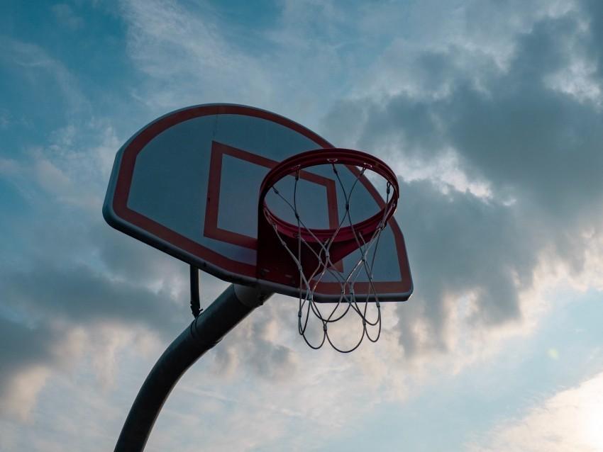 free PNG basketball hoop, basketball, basketball net, sky background PNG images transparent