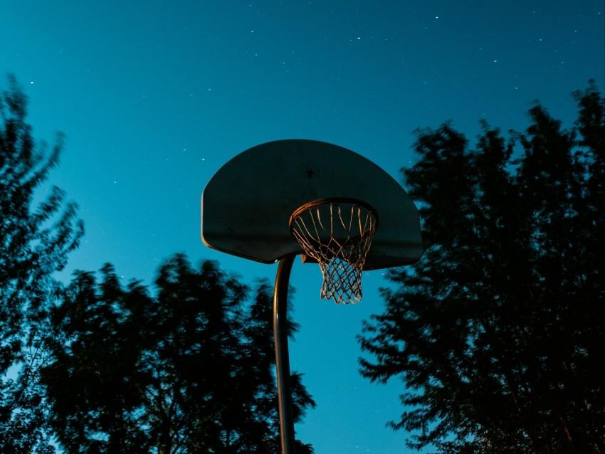 free PNG basketball hoop, basketball, hoop, starry sky, dark background PNG images transparent