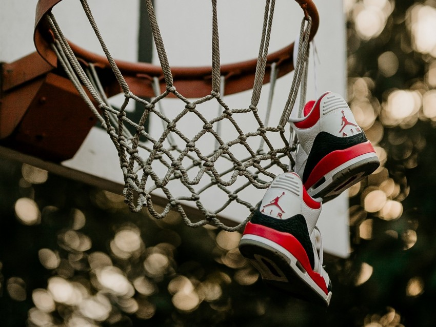 free PNG basketball hoop, sneakers, net, shield, basketball background PNG images transparent