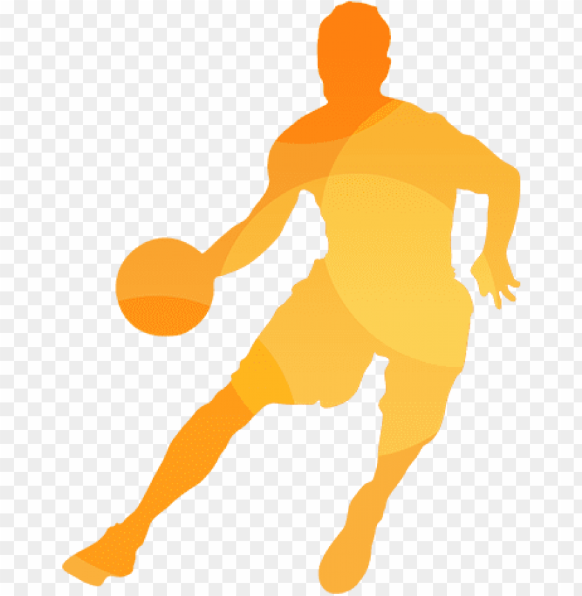 free PNG basketball silhouette - basketball player silhouette png yellow PNG image with transparent background PNG images transparent