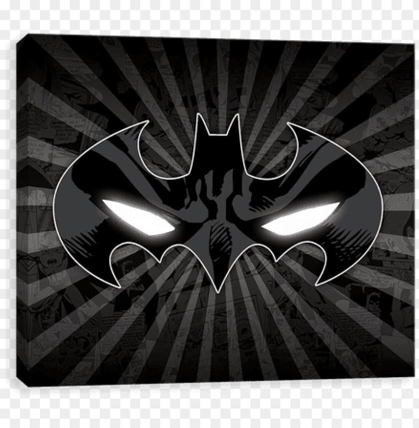 free PNG batman eyes - batman canvases by entertainart - batman eyes symbol PNG image with transparent background PNG images transparent