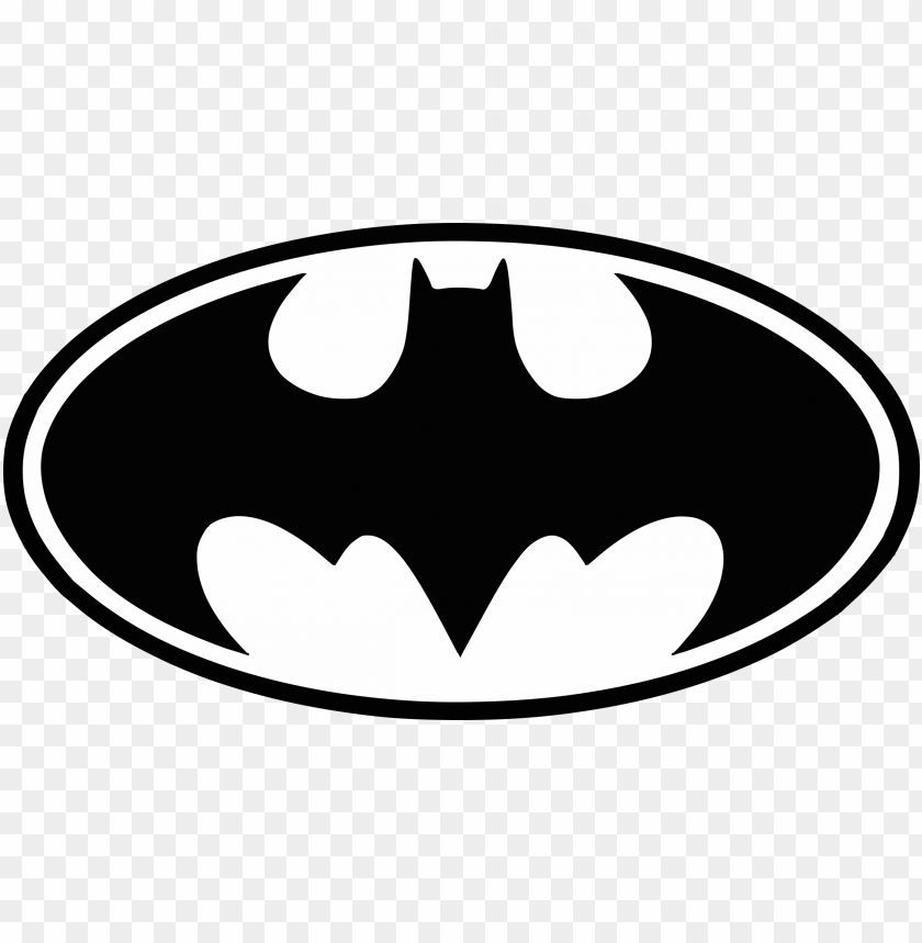 free PNG batman logo png - batman symbol black and white PNG image with transparent background PNG images transparent