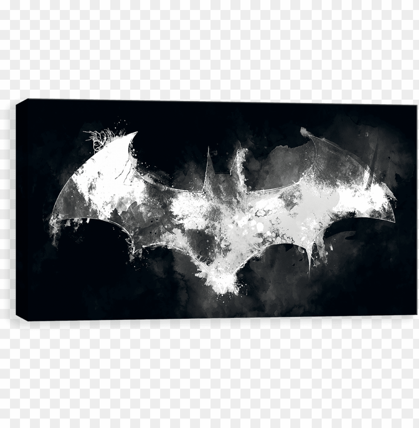 batman watercolor - batman canvases by entertainart - batman watercolor PNG image with transparent background@toppng.com