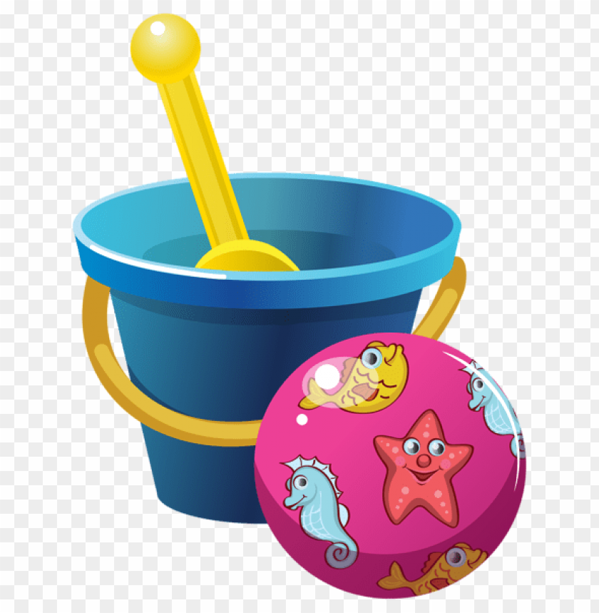 free PNG Download beach bucket and ball clipart png photo   PNG images transparent