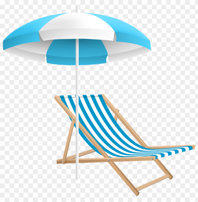 free PNG Download beach chair and umbrella png clipart png photo   PNG images transparent