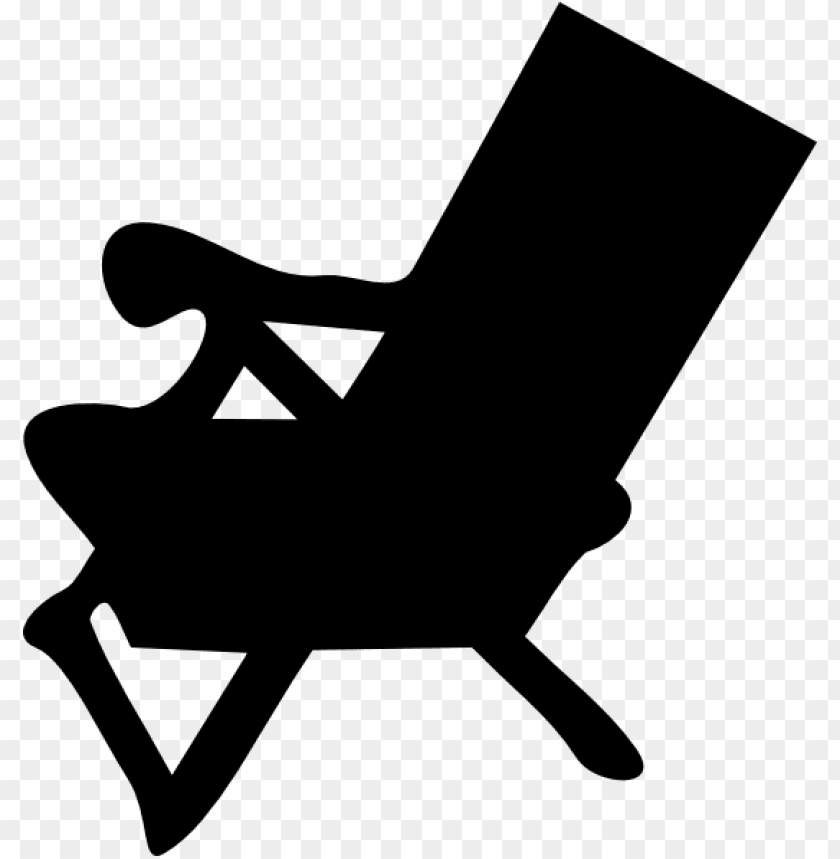 free PNG beach chair reverse clip art - beach chair silhouette PNG image with transparent background PNG images transparent