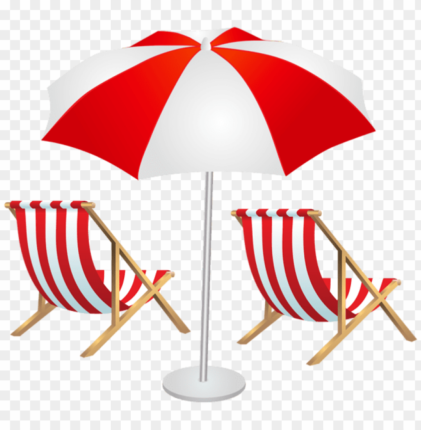 free PNG Download beach chairs and umbrella clipart png photo   PNG images transparent