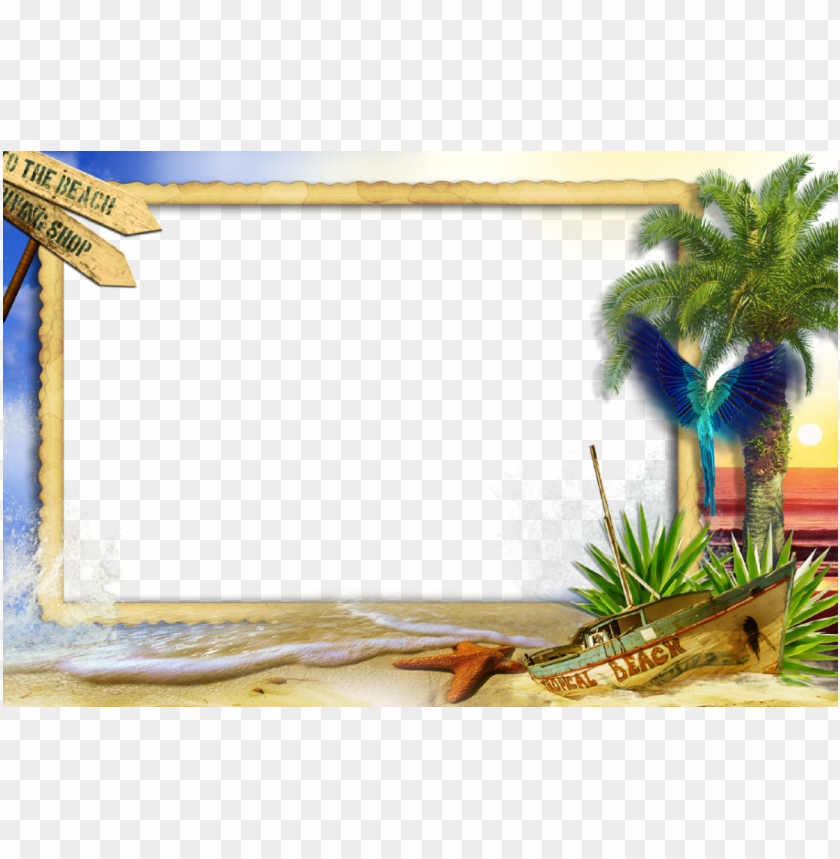 free PNG beach frames picture film frame title png download - beach photo frame PNG image with transparent background PNG images transparent