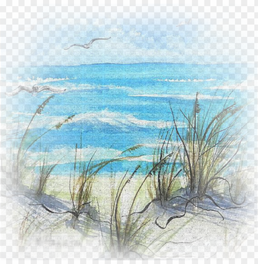 free PNG beach scene beach watercolour paintings PNG image with transparent background PNG images transparent