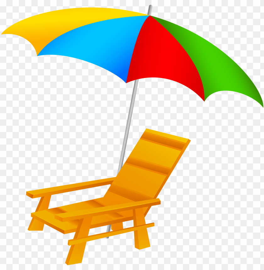 free PNG beach umbrella and chair png clip art - beach umbrella and chair clip art PNG image with transparent background PNG images transparent