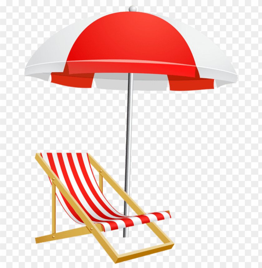 free PNG Download beach umbrella and chair transparent clipart png photo   PNG images transparent
