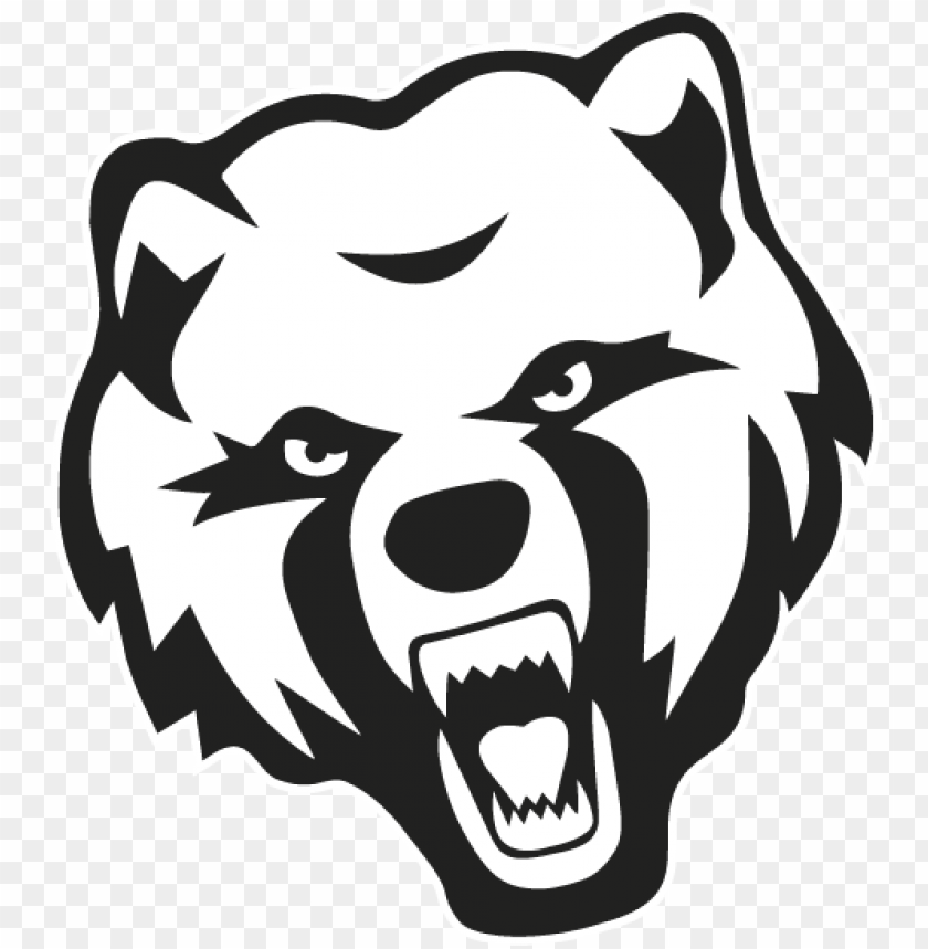 free PNG bear head black & white - catholic high school baton rouge bears PNG image with transparent background PNG images transparent