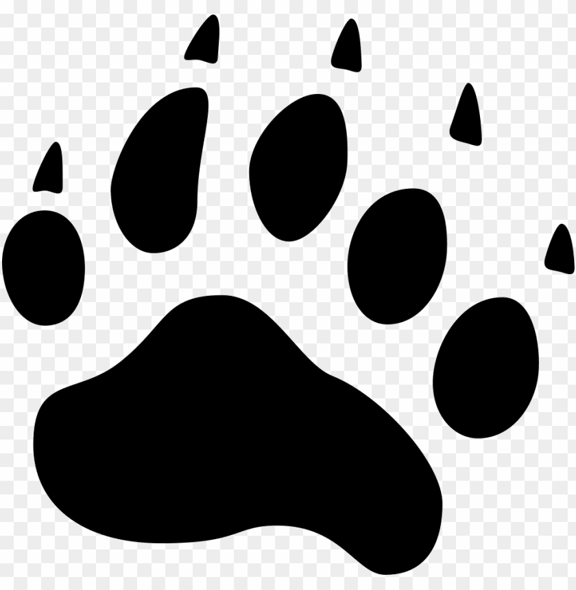 free PNG bear  icon free jpg transparent library - bear paw icon png - Free PNG Images PNG images transparent