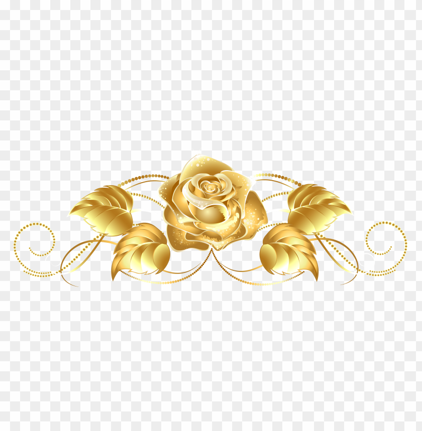 free PNG Download beautiful gold rose decor clipart png photo   PNG images transparent