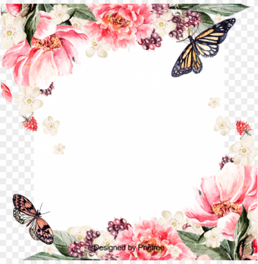 free PNG beautiful hand paint watercolor floral wreath, flower, - flower PNG image with transparent background PNG images transparent