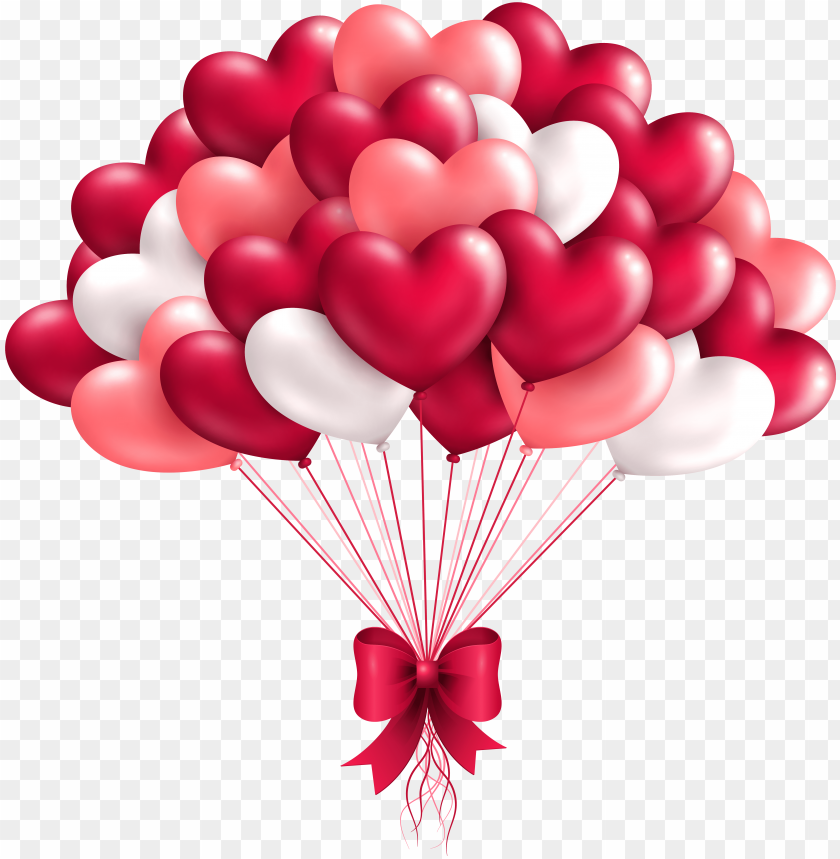 free PNG beautiful heart balloons png clipart image - heart balloo PNG image with transparent background PNG images transparent
