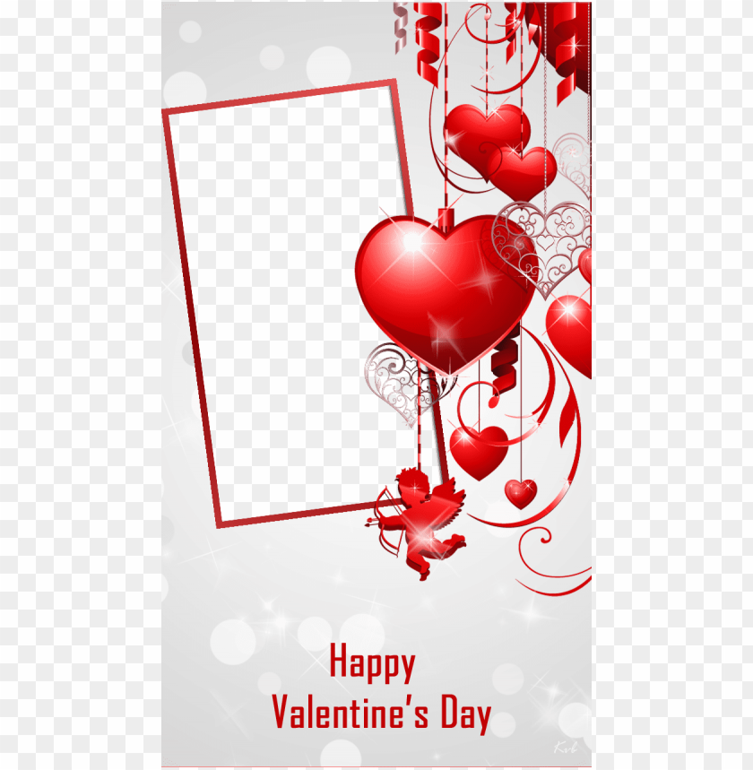 free PNG beautiful red valentine frame - happy valentines day frames PNG image with transparent background PNG images transparent