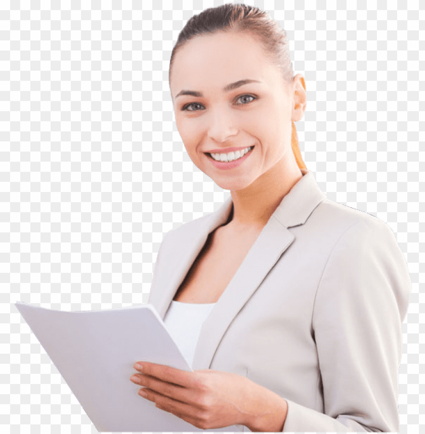 free PNG beautiful smiling business woman with tablet computer - smiling woman no background PNG image with transparent background PNG images transparent
