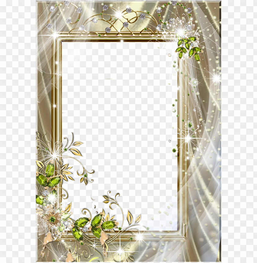 free PNG beautiful transparent frame with green diamonds - beautiful photo frames transparent PNG image with transparent background PNG images transparent