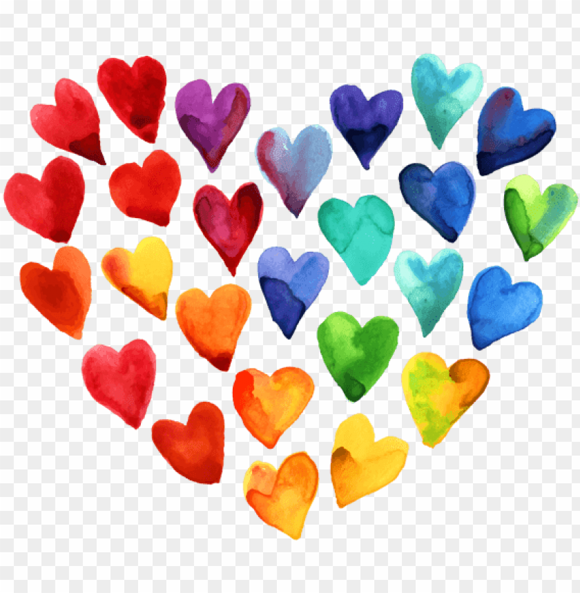 free PNG beautiful watercolor heart stickers messages sticker-0 - beautiful watercolor heart PNG image with transparent background PNG images transparent