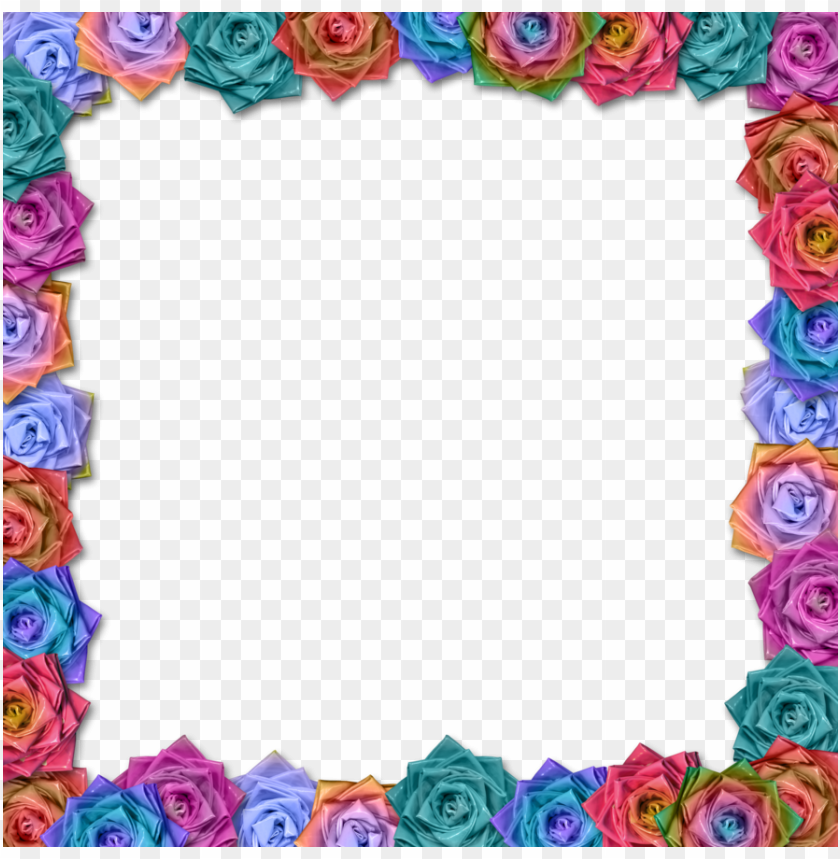 free PNG beautifull roses flower latest border design hd - flower border design hd PNG image with transparent background PNG images transparent