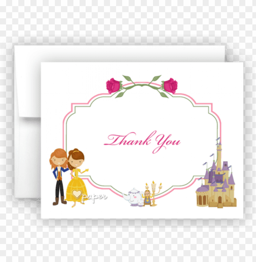 free PNG beauty & the beast thank you cards note card stationery - beauty and the beast thank you cards PNG image with transparent background PNG images transparent