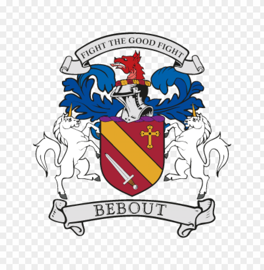 bebout family crest vector logo@toppng.com