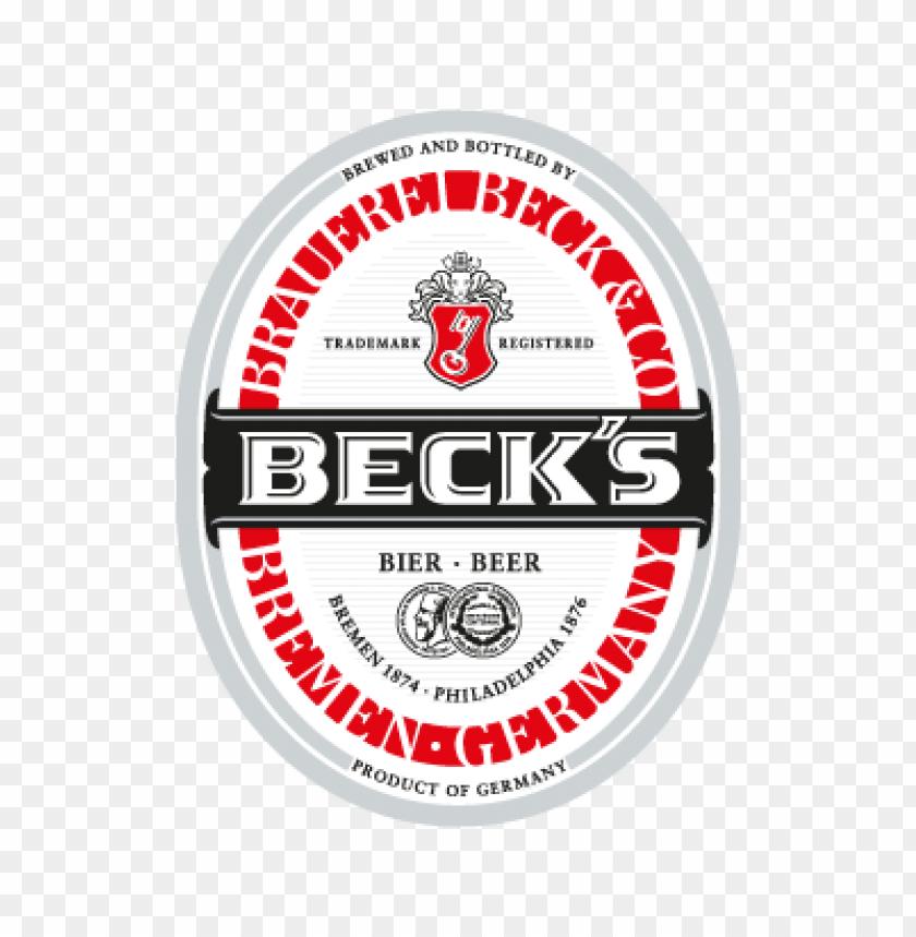 free PNG beck's vector logo PNG images transparent